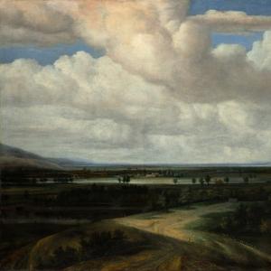 Конинк Филипс - Панорамный пейзаж с усадьбой