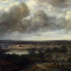 Конинк Филипс - Панорамный пейзаж с городом