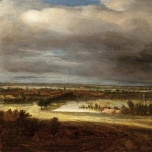 Конинк Филипс - Панорамный пейзаж с деревней