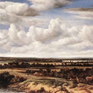 Конинк Филипс - Пейзаж с дорогой мимо руин
