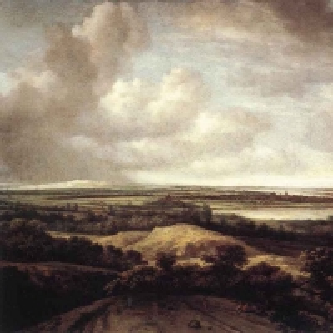 Конинк Филипс - Панорамный пейзаж с дюнами и рекой