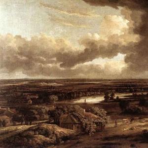 Конинк Филипс - Голландский пейзаж при взгляде на него с дюн