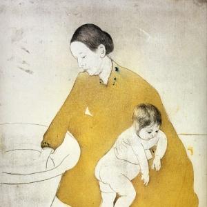 Кассат Мэри - Время мытья, 1891