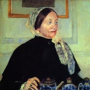 Кассат Мэри - Дама за чайным столом