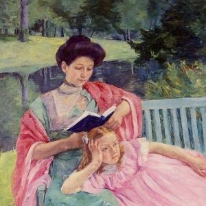 Кассат Мэри - Августа, читающая вслух своей дочери