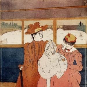 Кассат Мэри - Внутри трамвая, едущего по мосту