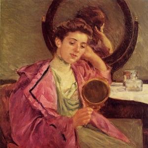 Кассат Мэри - Женщина у своего туалетного столика