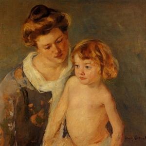 Кассат Мэри - Жюль, стоящий рядом с матерью