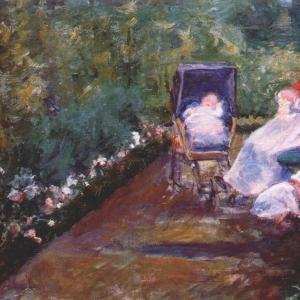 Кассат Мэри - Дети в саду (под присмотром няни)