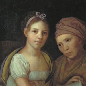 Портрет дочери художника с няней