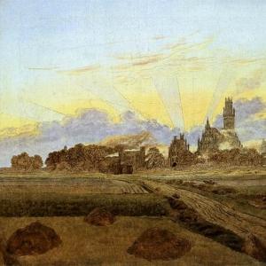 Каспар Давид Фридрих - Нойбранденбург, озаренный солнцем