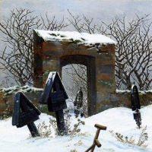 Каспар Давид Фридрих - Кладбище под снегом