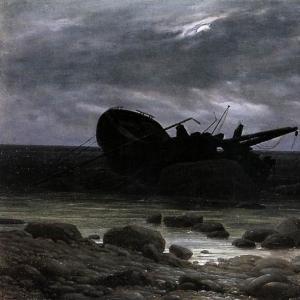 Каспар Давид Фридрих - Кораблекрушение при свете луны