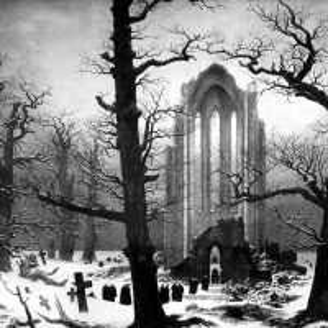 Каспар Давид Фридрих - Монастырское кладбище под снегом