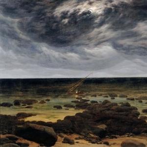 Каспар Давид Фридрих - Берег моря в лунном свете