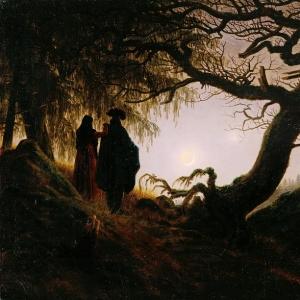 Каспар Давид Фридрих - Мужчина и женщина, созерцающие луну