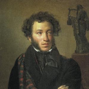 Портрет поэта Александра Сергеевича Пушкина