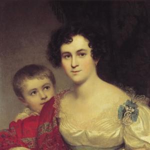 Портрет Авдотьи Ивановны Молчановой с дочерью Елизаветой