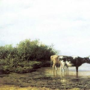 Клодт Михаил Константинович - Коровы на водопое