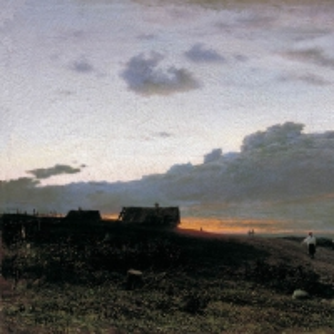 Вечерний вид в деревне. Орловская губерния