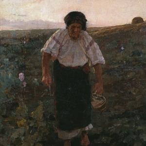 Костанди Кириак Константинович - Старуха с кувшином. Сумерки