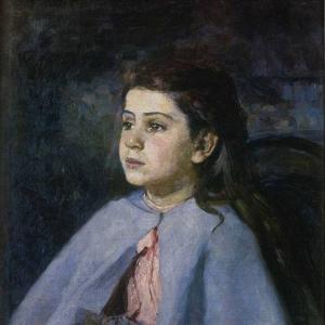 Девочка в голубой пелеринке