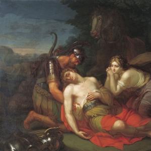 Эрминия и Вафрин находят раненого Танкреда