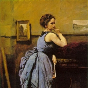 Жан Батист Камиль Коро - Дама в голубом