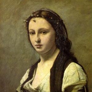 Жан Батист Камиль Коро - Женщина с жемчужиной