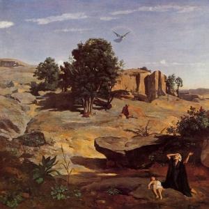 Жан Батист Камиль Коро - Агарь в пустыне