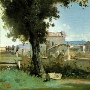 Жан Батист Камиль Коро - Вид из Садов Фарнезе, Рим