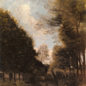 Жан Батист Камиль Коро - Деревья по берегам реки Гизор