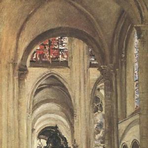 Жан Батист Камиль Коро - Внутренний вид кафедрального собора Санса