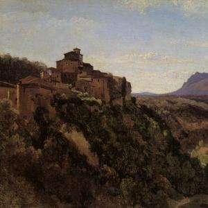 Жан Батист Камиль Коро - Здания в Папиньо, господствующие над долиной