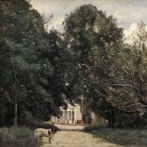 Жан Батист Камиль Коро - Вход в виллу М. Дубюссон в Бруной