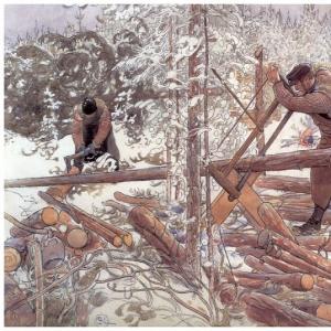 Карл Ларсон - Заготовщики дров, 1904-06