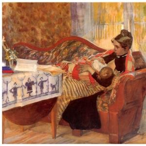 Карл Ларсон - Карин и Брита, 1893