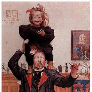 Карл Ларсон - Брита и я, 1895
