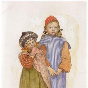 Карл Ларсон - Дети плотника Хельберга, 1906