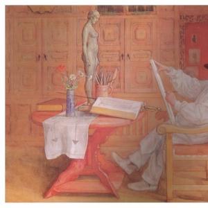 Карл Ларсон - Автопортрет в студии, 1912