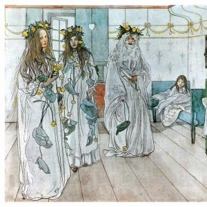 Карл Ларсон - В день именин Карин, 1899