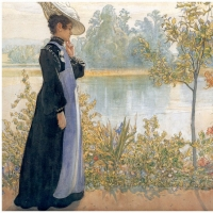 Карл Ларсон - Карин на берегу озера, 1908