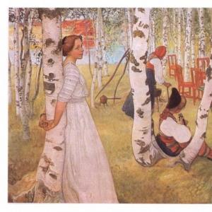 Карл Ларсон - Завтрак на открытом воздухе, 1910-13