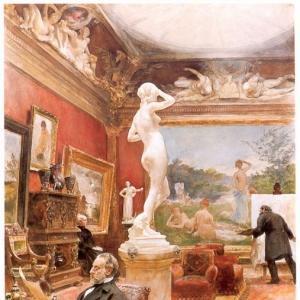 Карл Ларсон - Интерьер галереи Фюрстенберга в Гётеборге, 1885