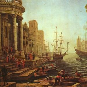 Клод Лоррен - Отплытие Св. Урсулы, 1641