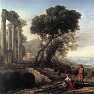 Клод Лоррен - Ландшафт итальянского побережья