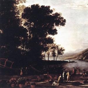 Клод Лоррен - Пейзаж с купцами