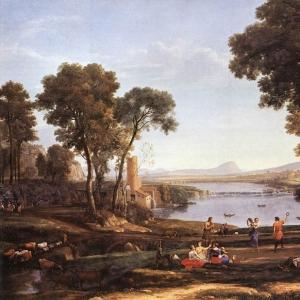 Клод Лоррен - Пейзаж с танцорами