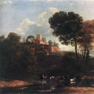 Клод Лоррен - Пейзаж с пастухами