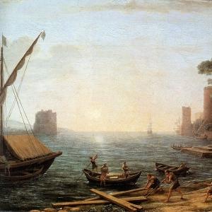 Клод Лоррен - Гавань на закате